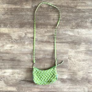 Vera Bradley Green Floral Tiny Crossbody Bag Purse